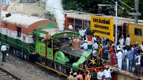 EIR-21 is the world's oldest working steam engine that was brought to India from England in 1855 (PTI photo).