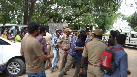 WATCH : Six students of Hyderabad Central University detained for screening 'Ram Ke Naam' on campus