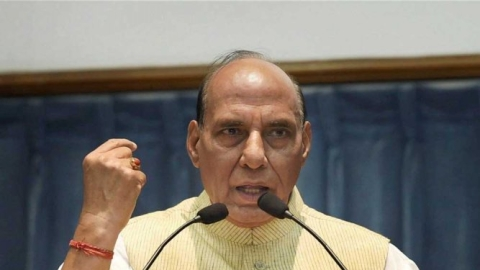 Defence Minister Rajnath Singh (PTI file photo).