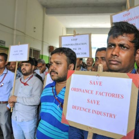 Ordnance factory workers call off strike after govt assurance
