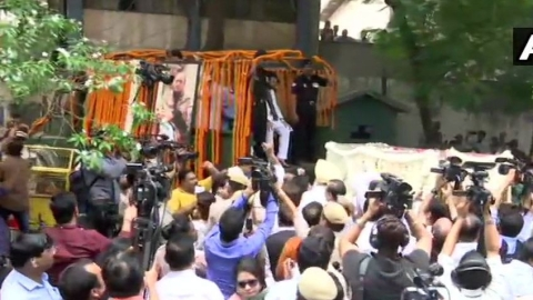 Arun Jaitley's mortal remains reach BJP headquarters