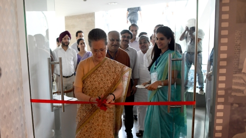 Sonia Gandhi inaugurates the Memories and Archives of Rajiv Gandhi (MARG).