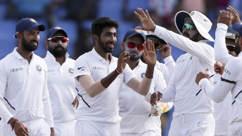 Bumrah's hat-trick, Vihari's maiden ton take India to commanding position