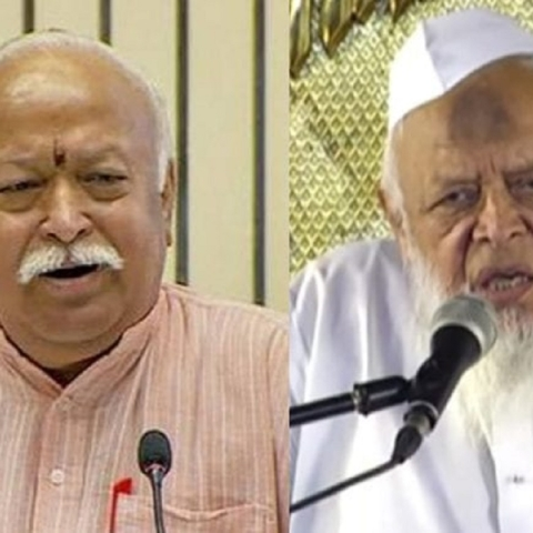 Jamiat and RSS heads meet for the first time after Independence -- historic or a 'historic blunder'?