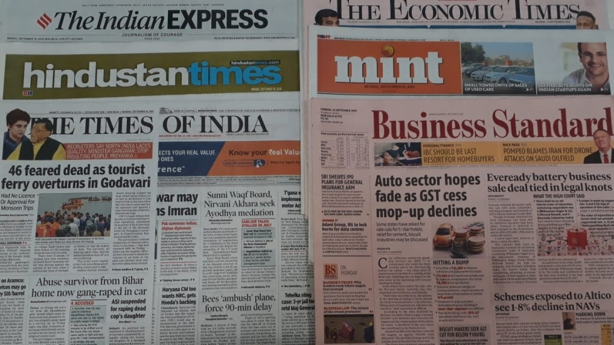Front Pages this morning- October 3, 2019