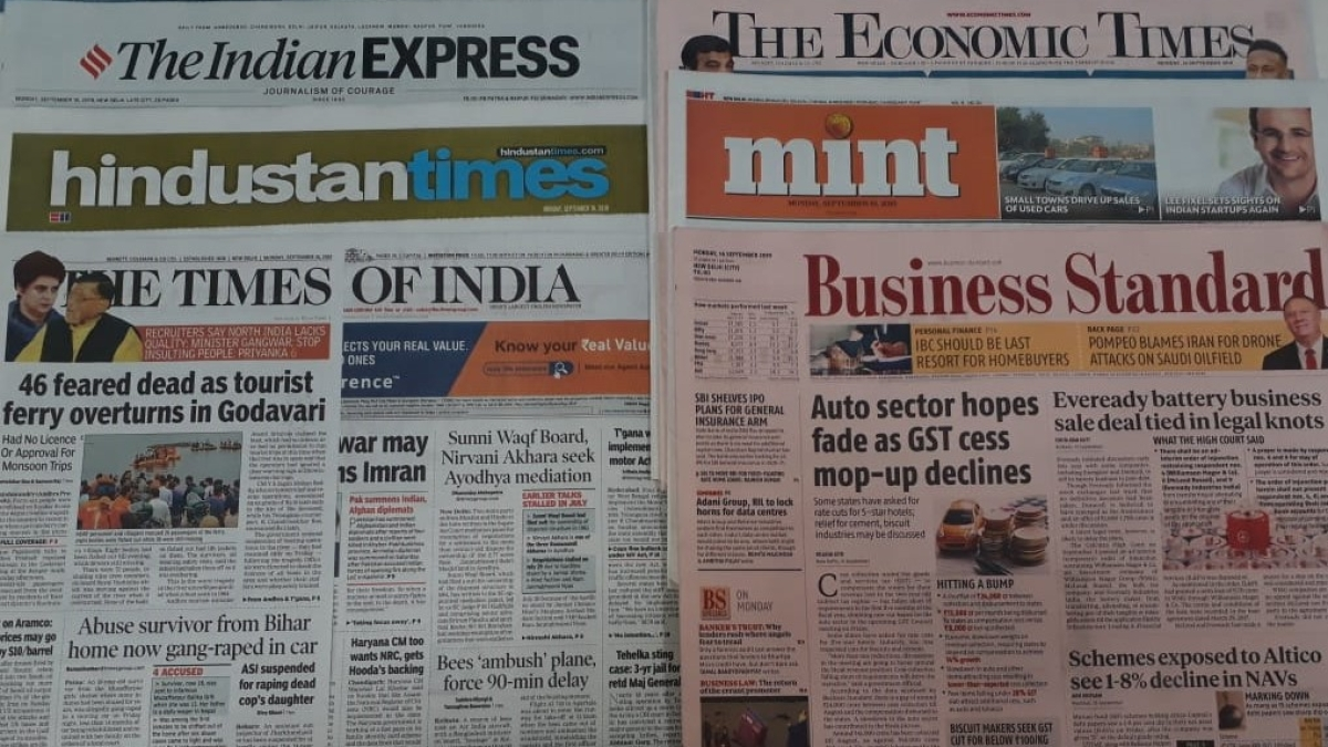 Front Pages This Morning - September 26, 2019
