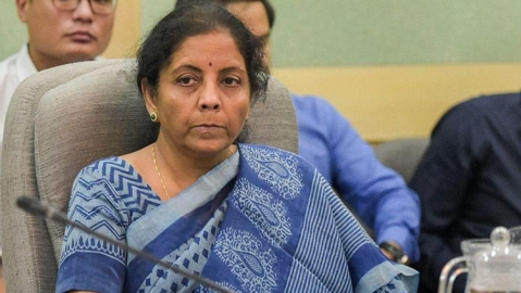 FM Sitharaman shrugs off media queries on sliding GDP growth