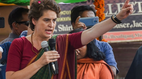Demonetisation proved to be disaster that all but destroyed economy, says Priyanka Gandhi