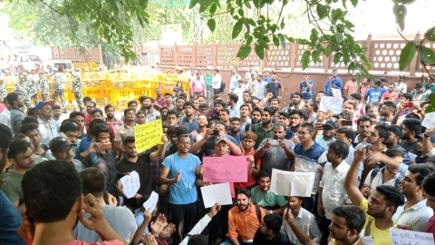 Protests against ICAI at New Delhi office (social media)