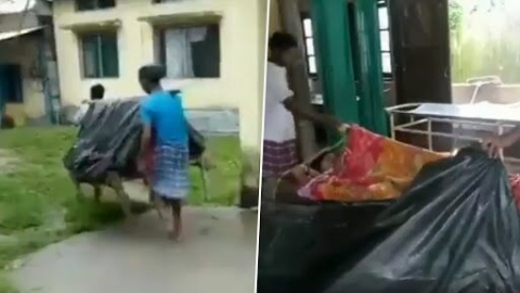 Assam: Woman gives birth on make-shift stretcher while being carried for 5 kilometers