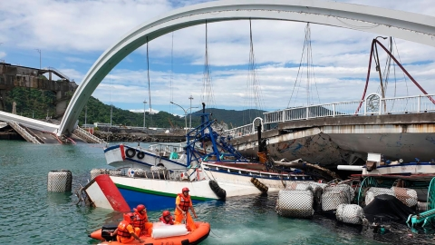Five bodies found, one still missing after Taiwan bridge collapse