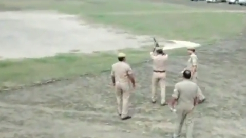 WATCH: Police fails to fire tear gas during mock drill in UP