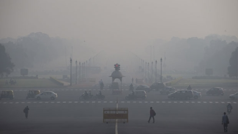 Poor air quality in Delhi (Photo courtesy: social media)
