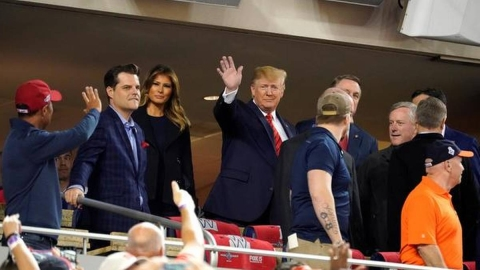 Donald Trump attends baseball game to get booed, crowd chants 'Lock him up'