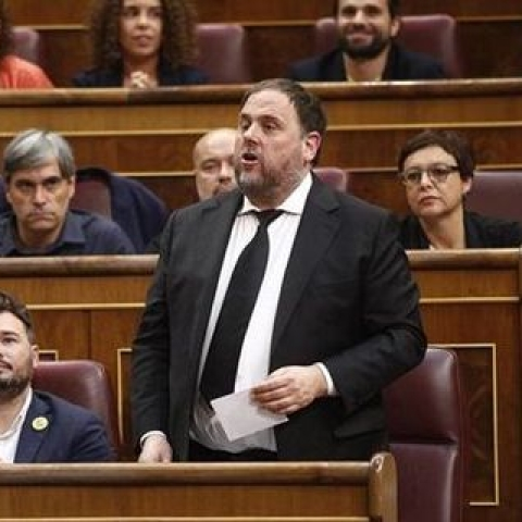 Vice President of the Catalan Parliament Oriol Junqueras was handed out the maximum sentence of 13 years in prison by the Spanish court (Photo courtesy: Social media)
