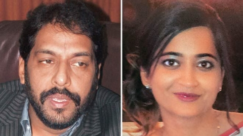 Gopal Kanda and Geetika Sharma (Photo courtesy: social media)