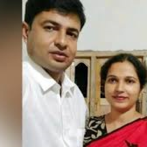 A file photo of the victim couple who were murdered along with their minor son.