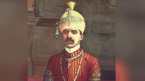 Mir Osman Ali Khan, the 7th Nizam of Hyderabad.