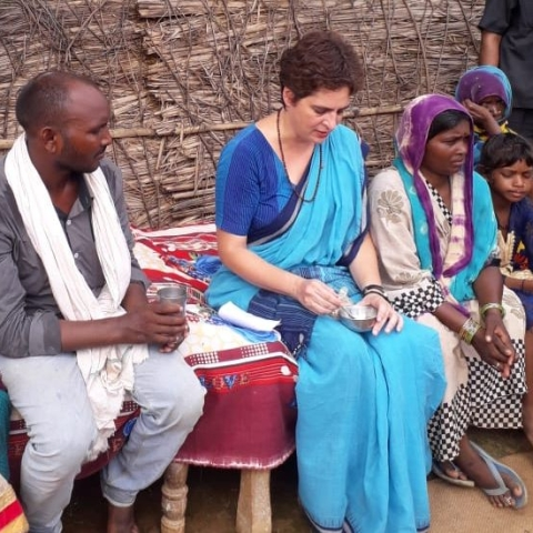 Priyanka Gandhi, general secretary of the AICC in Sonebhadra (File Photo)