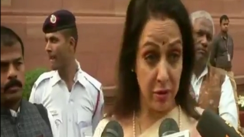 WATCH: BJP MP Hema Malini demands 'fruit bearing trees' for monkeys!