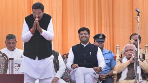 Haryana cabinet swearing-in ceremony (PTI photo)
