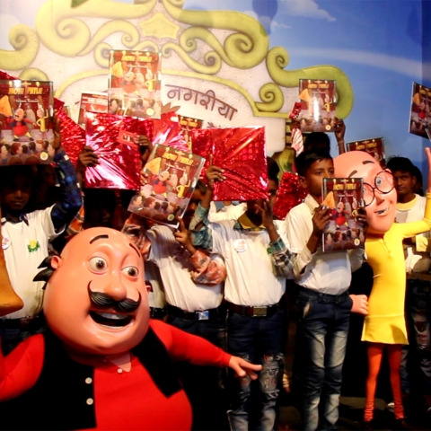 Motu Patlu's comic book series titled 'Motu Patlu in Madame Tussauds' launched at Madame Tussauds in Delhi