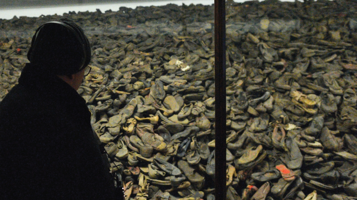 Shoes of victims seen inside the museum at Auschwitz I camp. Both Auschwitz I and Auschwitz II-Birkenau, German Nazi concentration and extermination camps, were liberated by the Soviet Red Army on January 27, 1945.