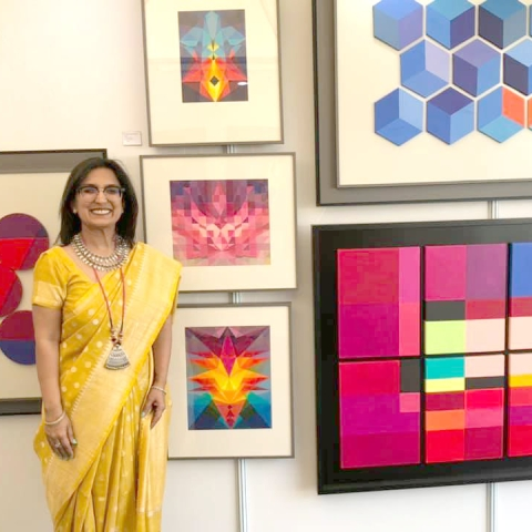 Spiritual paintings of Neerja Chandna Peter