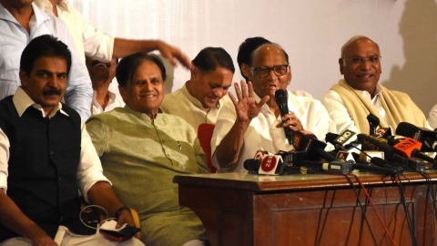 President's rule imposed in Maharashtra; Cong-NCP in huddle over alliance with Sena