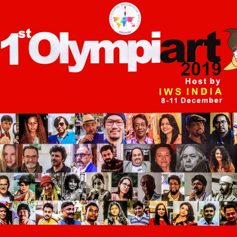 1st OLYMPIART 2019: International Watercolour Exhibition at IGNCA