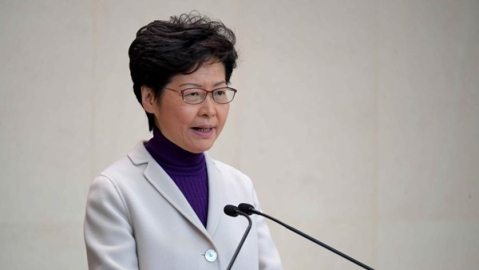 Hong Kong leader says new US law, violence will harm economy Hong Kong