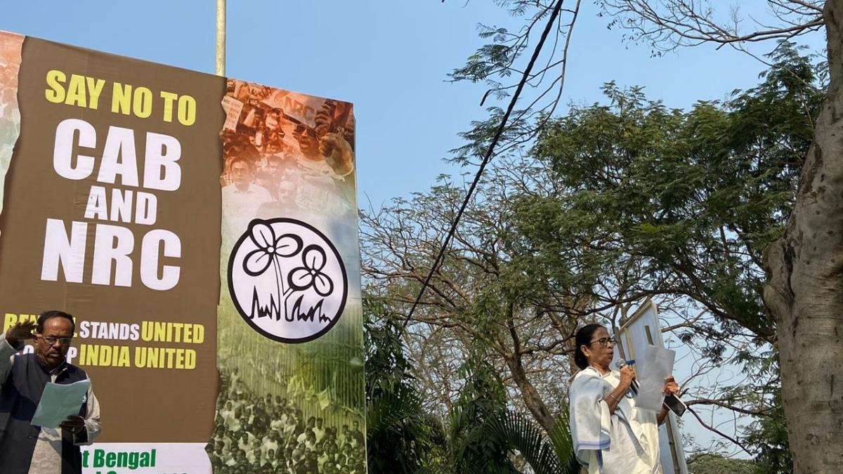 Mamata Banerjee leads big march, says won't allow CAB, NRC