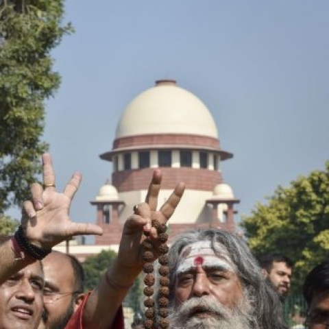 Hindu litigants rejoice after the SC verdict in their favour in Ramjanmabhoomi-Babri Masjid case.