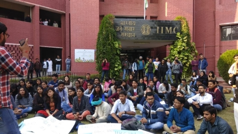 After JNU, IIMC joins demand for fee hike rollback