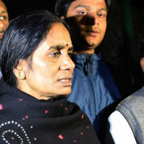 Nirbhaya's mother Asha Devi and father Badrinath Singh (PTI photo)