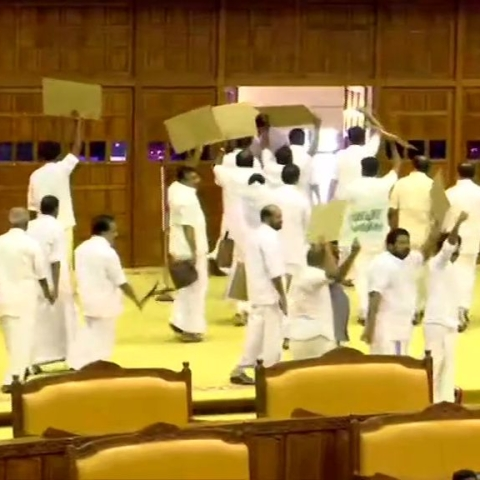 LIVE News Updates: UDF MLAs  stage a walk-out from  assembly as Kerala Guv Arif Mohammad Khan begins address