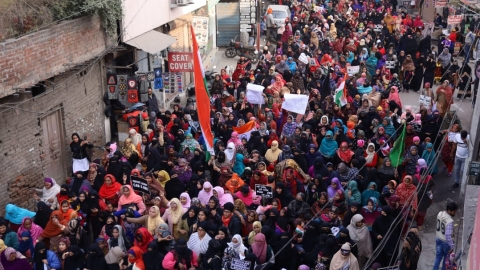 Women march against CAA in Ludhiana