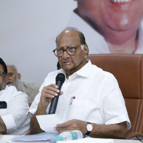 LIVE News Updates: Senior NCP Leaders Sharad Pawar, Ajit Pawar addressed meeting of party's minority cell