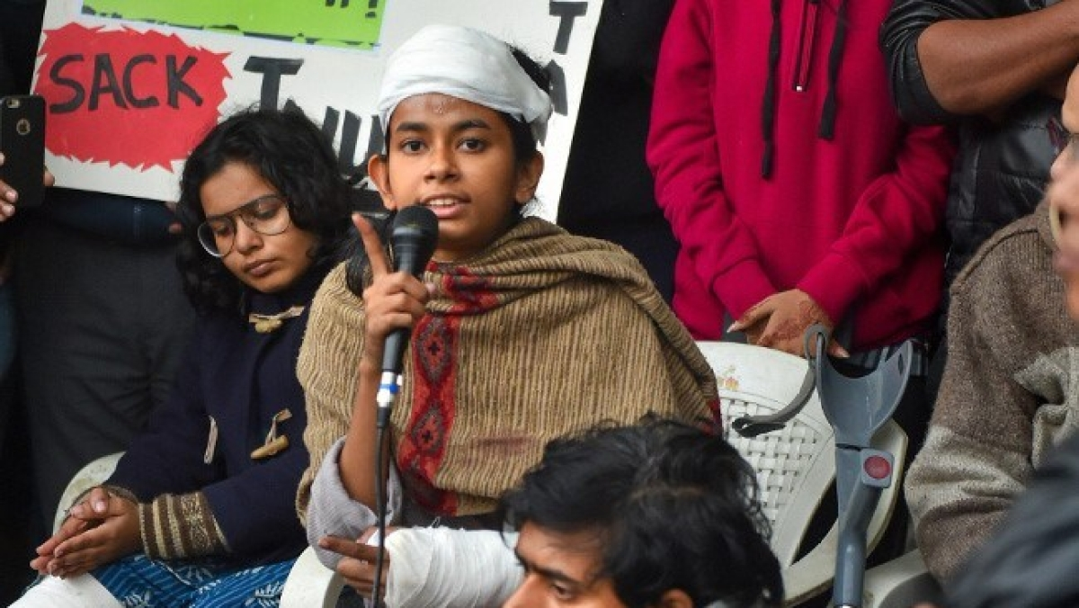 JNUSU president Aishe Ghosh to NH: India is moving towards Nazism under Modi