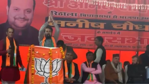 Anurag Thakur invokes 'Desh ke gaddaron ko…' slogan at Delhi poll rally. Will EC take action?