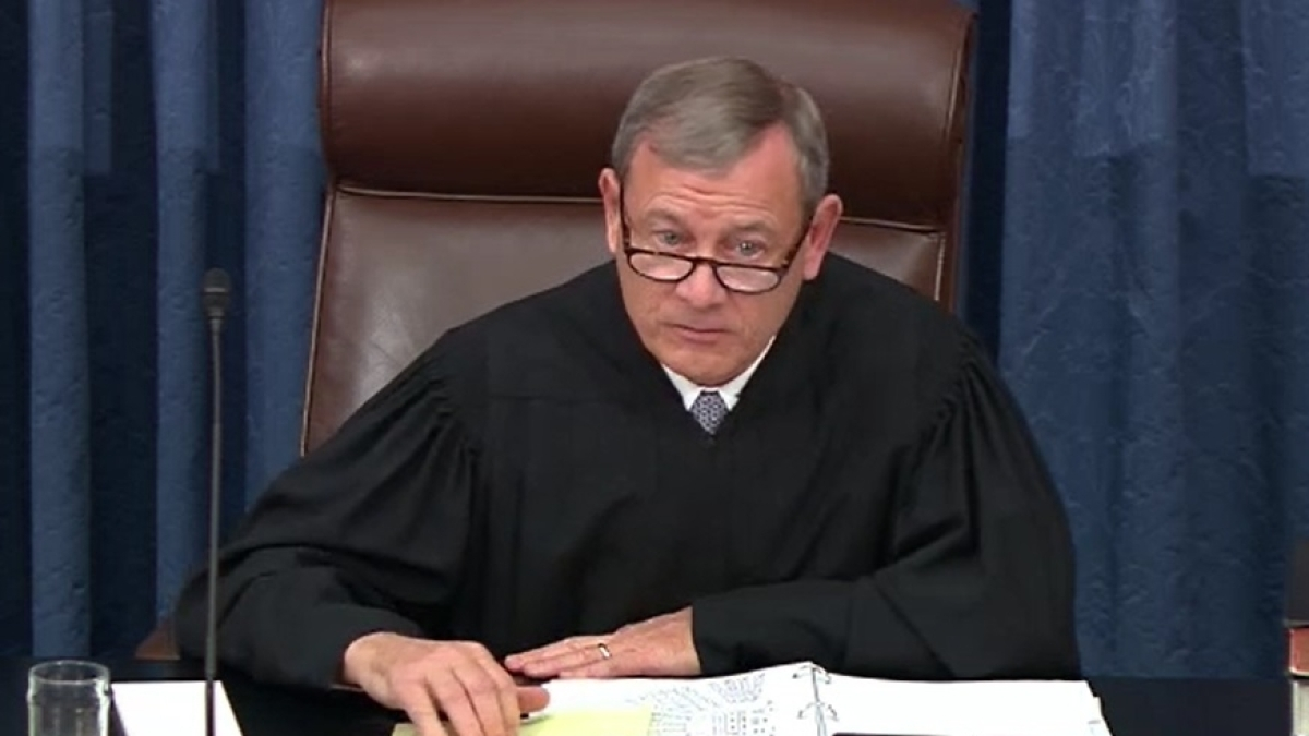 United States Supreme Court Chief Justice John Roberts presides over the Senate trial of President Donald Trump on January 22, 2020  (Photo Courtesy: IANS)