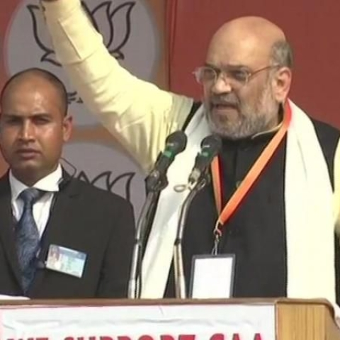 Amit Shah in Lucknow (Photo Courtesy: ANI)
