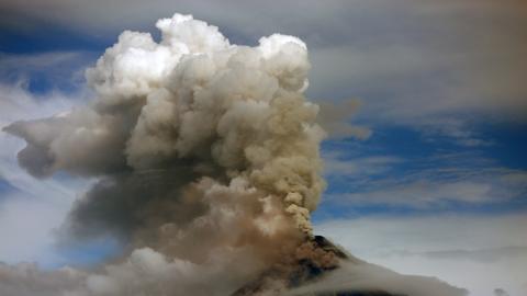 7,742 people evacuated as Philippines volcano spews lava