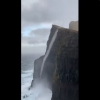 WATCH: Defying gravity water flows upwards in Faroe Islands!