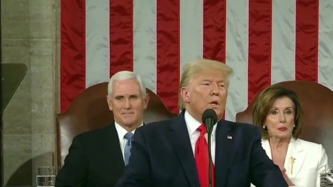 The American Dream is back, says Trump as he underlines 'blazing bright' future of United States