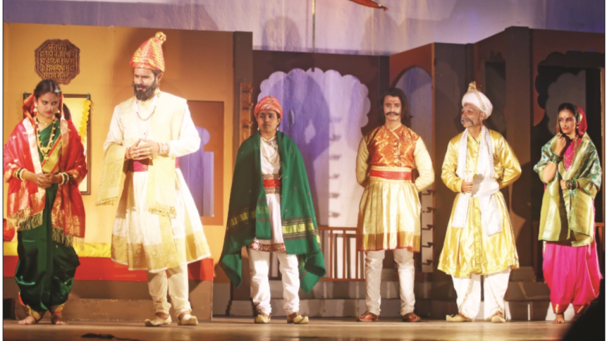 A scene from the play 'Jaag Utha Hai Raigad' performed by Swatantra Kala Group