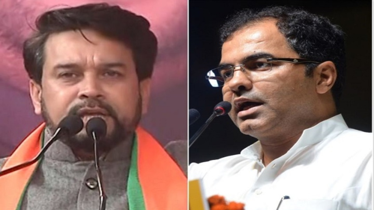 (Left) Anurag Thakur, (Right) Parvesh Verma (Photo courtesy- social media)