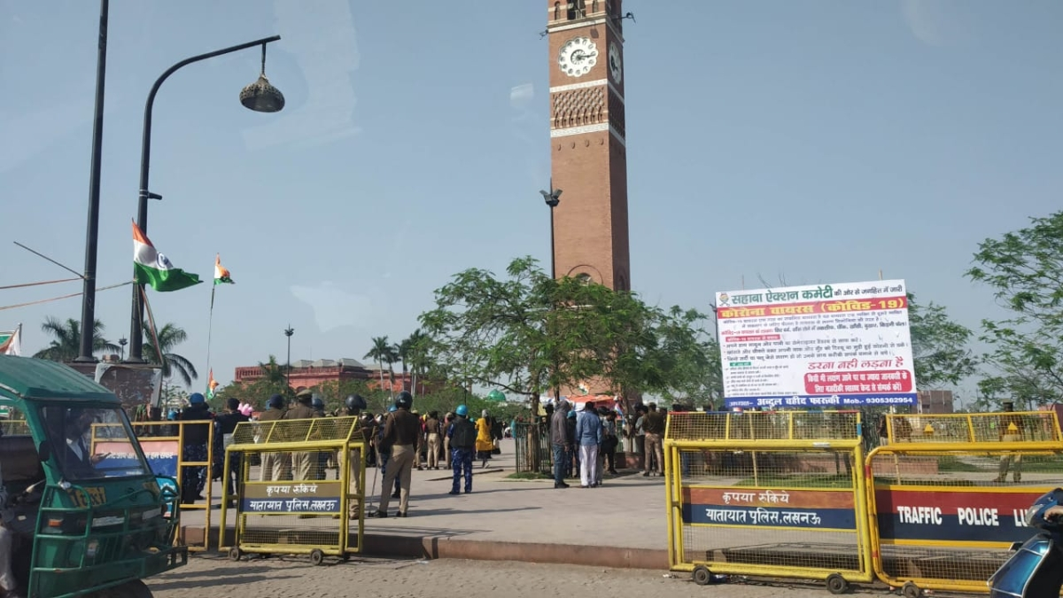 Lucknow anti-CAA protestors determined to defy Janata Curfew and threat of coronavirus