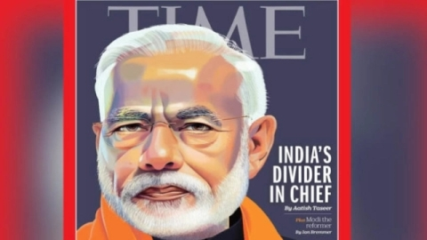 American News Magazine Time Has Featured Prime Minister Narendra Modi On The Cover Page Of Its May 20 Issue With A Headline That Create Controversy