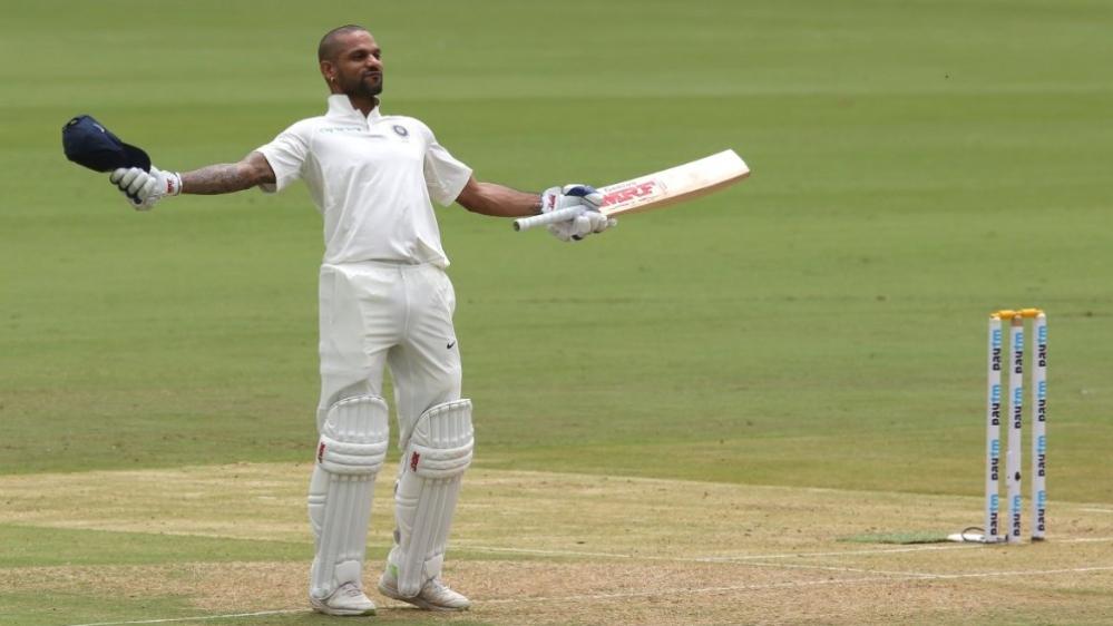 ऐतिहासिक टेस्ट के पहले दिन धवन और विजय की सेंचुरी